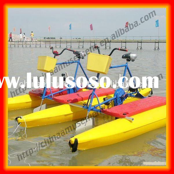 Water play equipment 2 persons water bicycle for sale