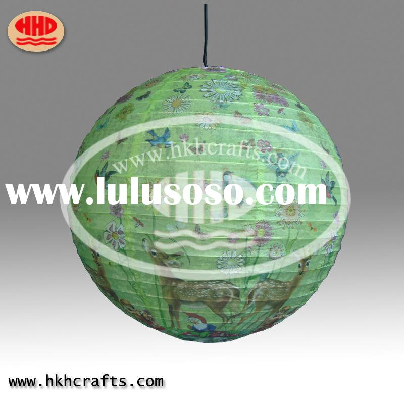 all over print style paper Lantern use for festival decoration in rice paper /wedding decoration han