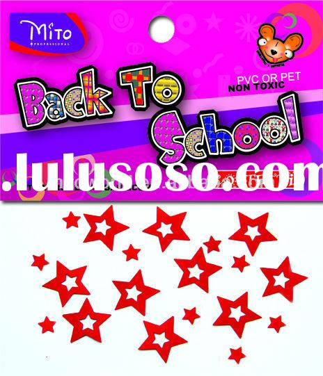 back to school party favor confetti 20mm red hollow star confetti