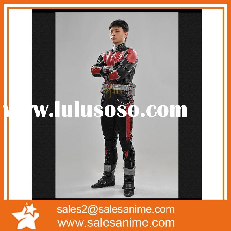 2015 Newest Marvel Movie Anime Ant-man Cosplay Costume Adult Men Superhero Costume for wholesale