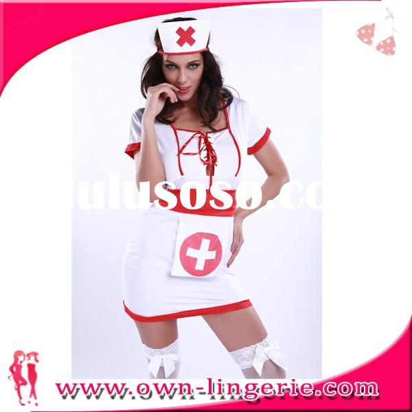 2015 low price high quality nurse costume for women