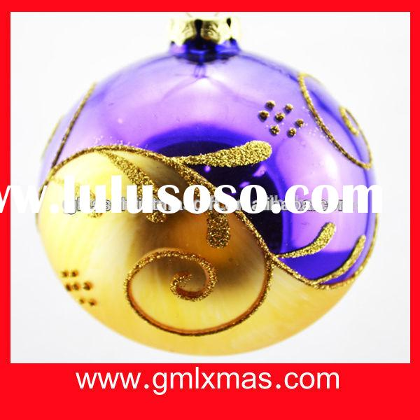2015 wholesale hand blown old winter unique Christmas ball Christmast Tree Ornament & shop decor