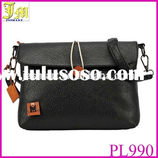 2015 Korean Fashion Women Handbag PU Leather Women Messenger Bags Candy Color Envelope Bag For Women