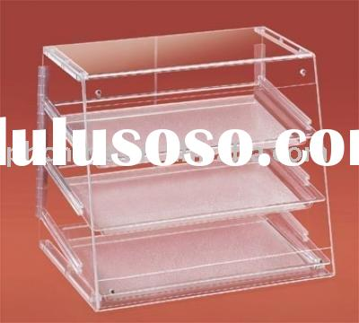 Acrylic 3 Trays Bakery Display Case,Plexi Pastry Display