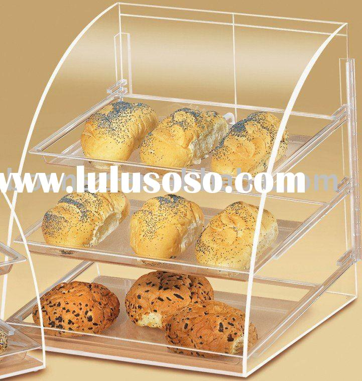 Acrylic Bakery Case,Plexiglass Bread Display Box,Lucite Pastry Display