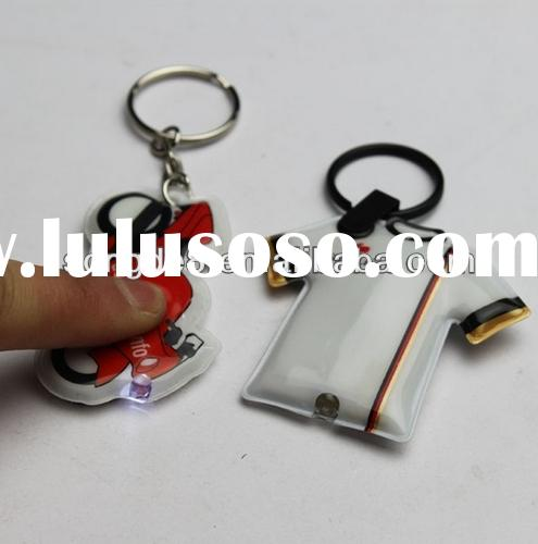 Cheap mini plastic LED keyring /keychains for men/unique keychains