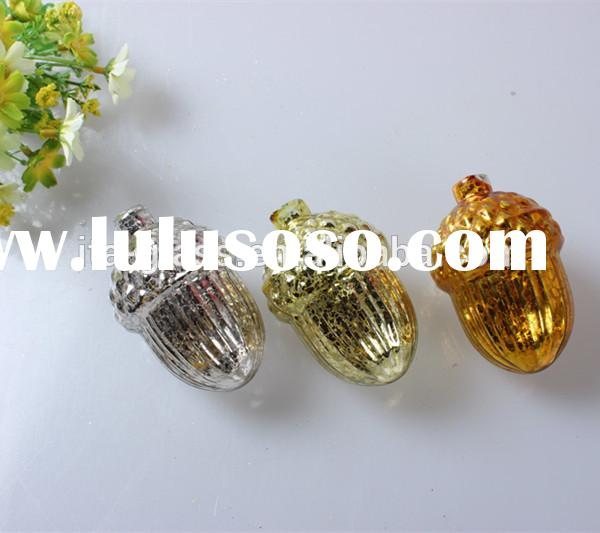 China factory indoor & outdoor wholesale decorative colorful unique cone shape hand made glass c