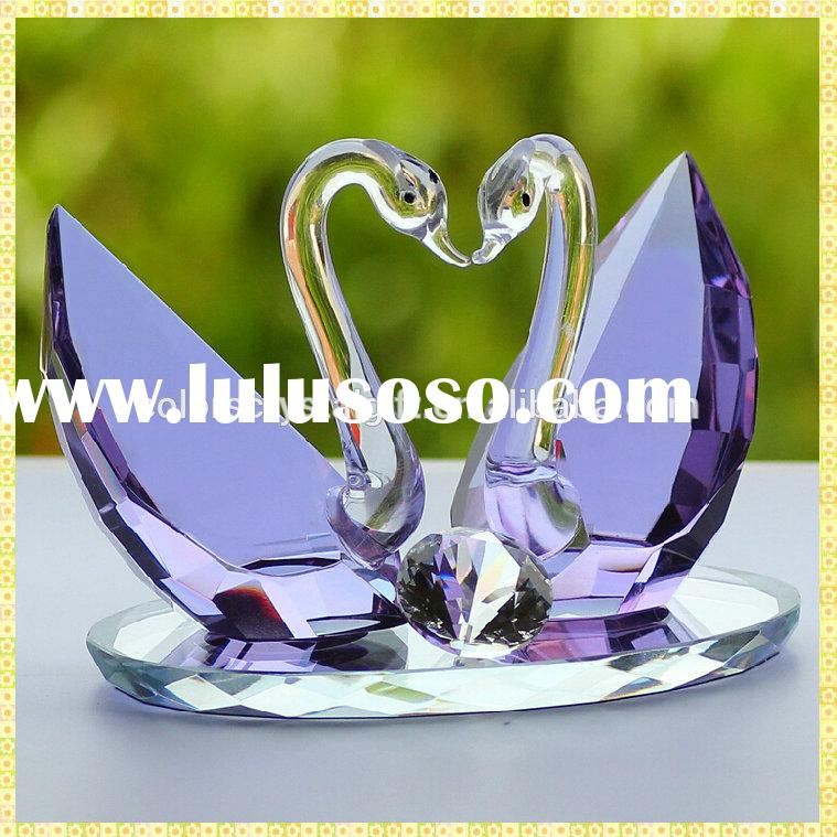 Coupled Crystal Swan Gay Wedding Gifts For Love Souvenirs