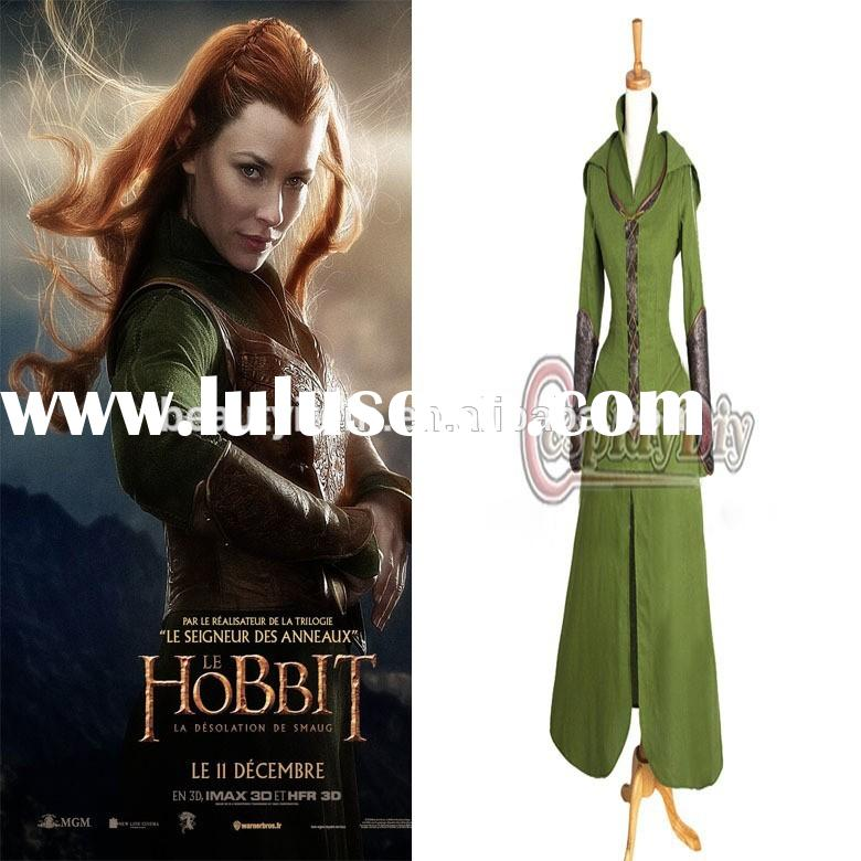 Custom made Anime Movie The Hobbit Desolation of Smaug tauriel Costume Cosplay costume dress for adu