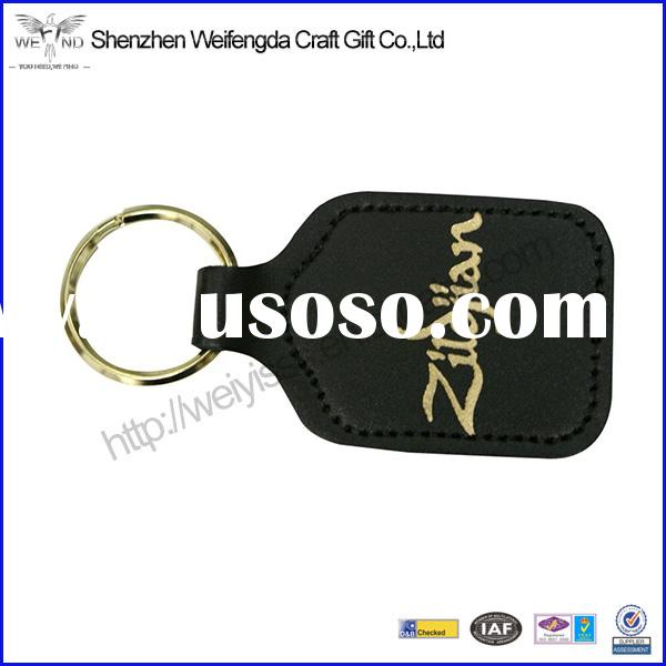 Factory Unique Design Men Leather Keychain For Promotional