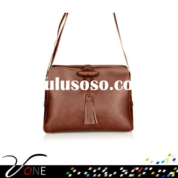 Faux Leather Tassels Single Shoulder Bag Retro Candy Color Messenger Bags For Women