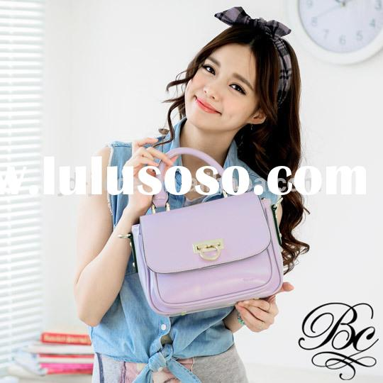 For Sweet girl top quality Fashion women leather messenger bag