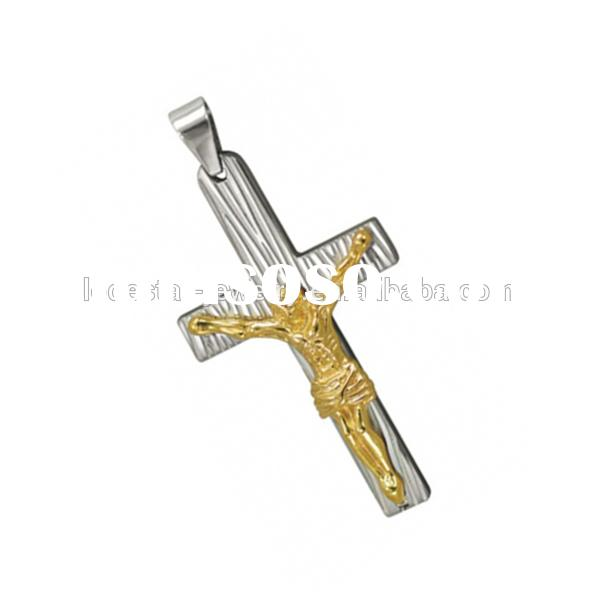 Gold jesus stainless steel unique cross pendants unique mens cross pendants western cross pendant fo