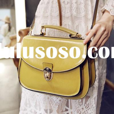 High quality new arrival PU leather messenger bag for woman