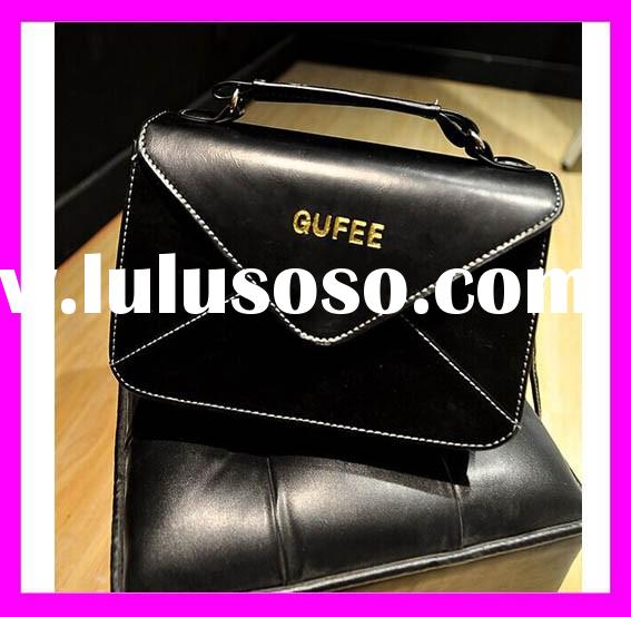 Hot!!! 25-50% price off new model women shoulder bag black women leather messenger bag for wholesale