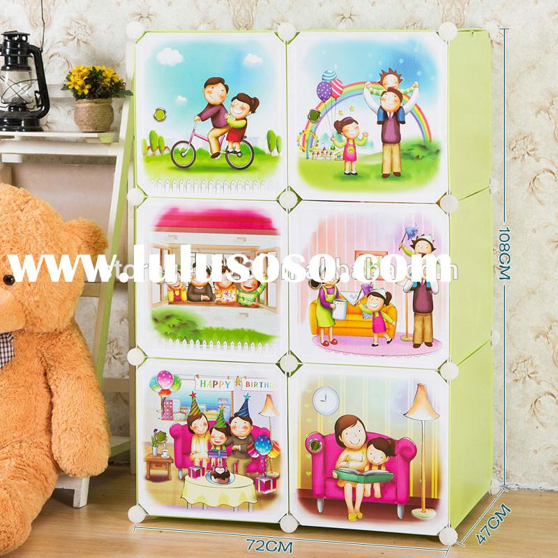 Kids storage cabinets with doors and shelves