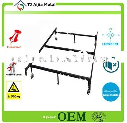 MH Twin size High Rise Metal Bed Frame with Headboard & Footboard Brackets