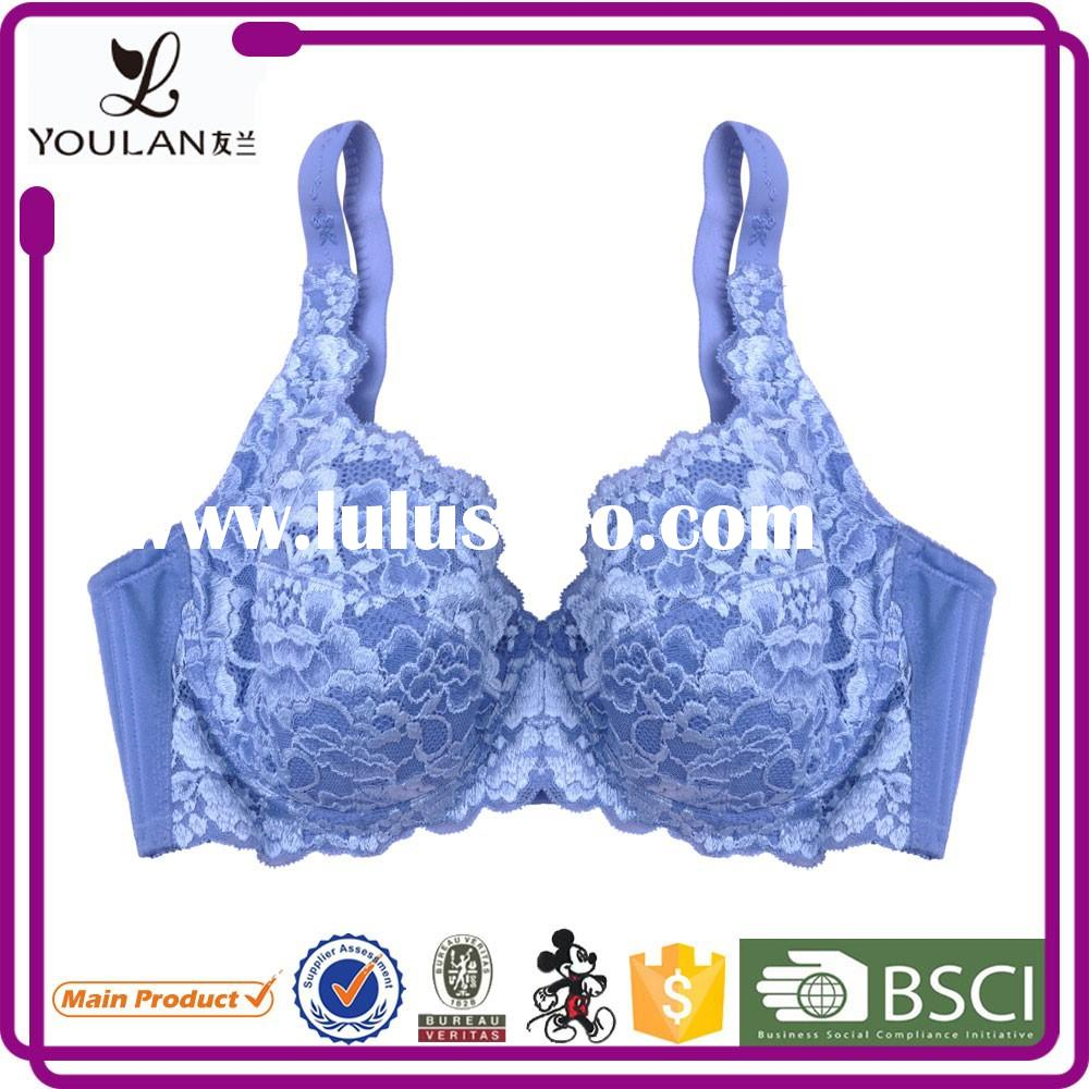 New Design Wide Style widening side panel Washing 1/4 cup bra