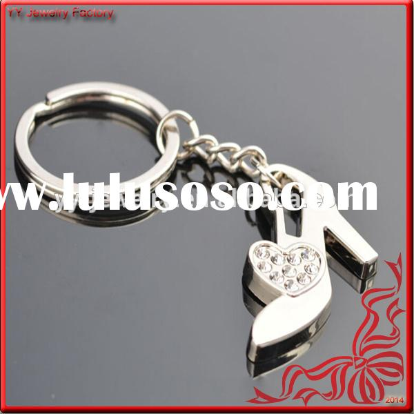 New Unique Crystal Metal High Heel Shoe Keychain for Women