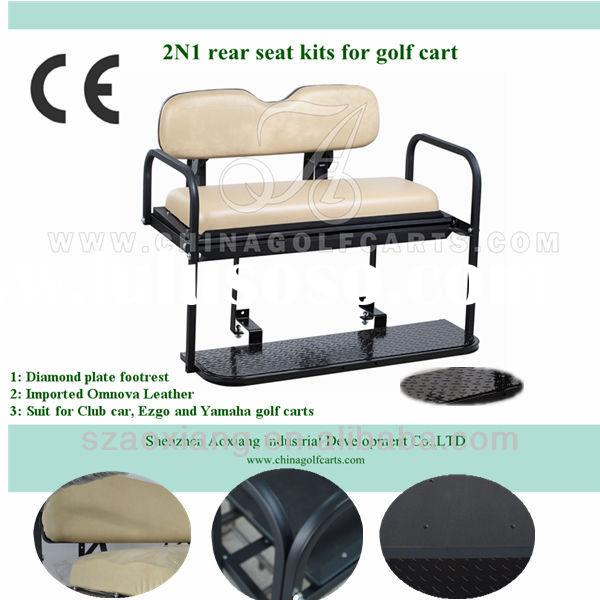 New golf cart accessories: Rear seat kits used for custom Club car, EZGO and Yamaha golf cart