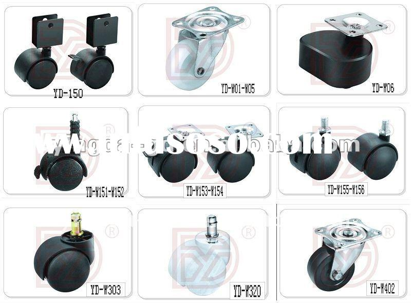 Nylon small furniture casters wheel/swivel office chair casters from caster factory