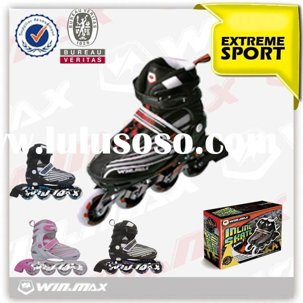 Professional 4 wheels inline skate shoes for adults and kids,retractable roller skate shoes