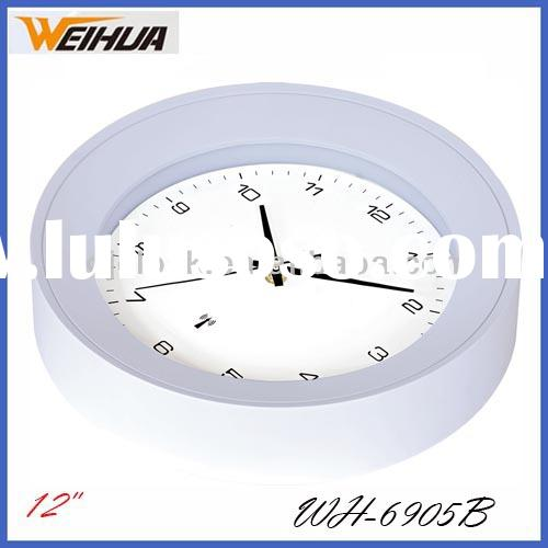 Radio Controlled Wall Clock WH-6905B Tire Wall Clock Clear Dial Design Quartz Wall Clock Parts
