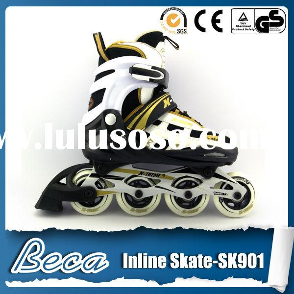 Sport roller skates that attach to shoes 4 wheel retractable roller skate shoes double roller skates