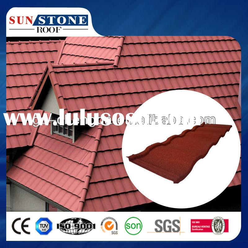 Steel Roof Tile Advanced materials in construction Roman Metal Stone Coated Roof Tile house construc