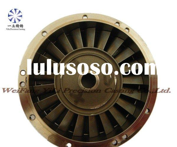 Superalloy turbine wheel and nozzle guide vanes used for military aircraft parts