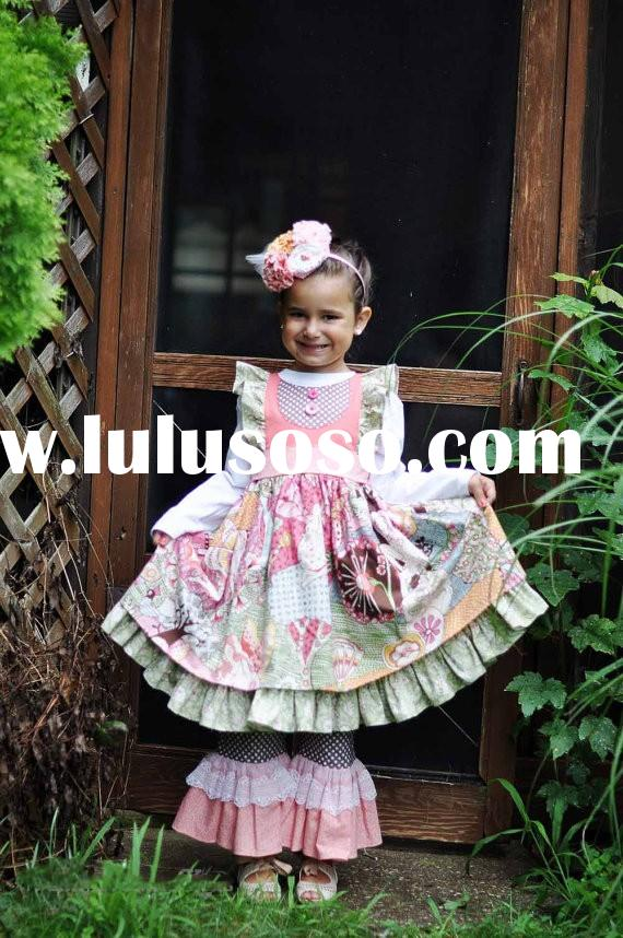 Toddler Girl Summer Boutique Dresses Infant Clothing Low Moq 2015 Fall Outfits
