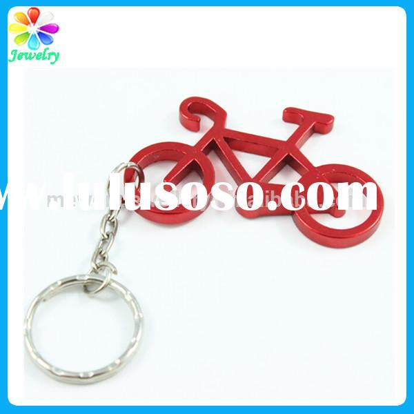 Unique cute design bicycle keychain for biker man bicycle keychain bottle opener
