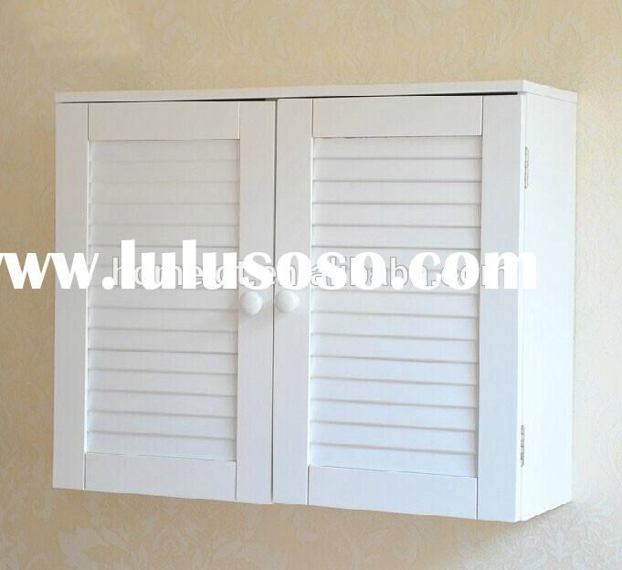 White Wall Cabinet Utility Garage Pantry Shelves Bathroom Storage Kitchen White Wooden Cabinet with