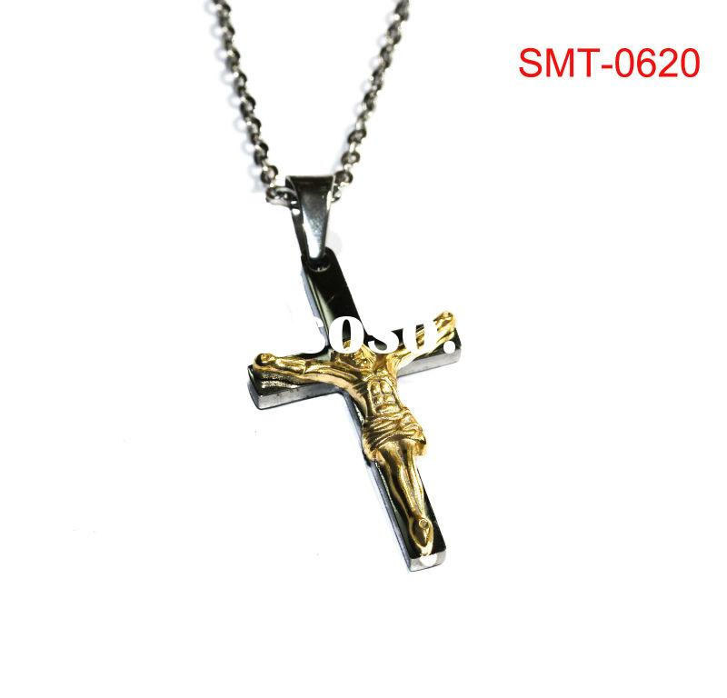Wholesale Jewelry 316L Stainless Steel Jesus Cross Pendant For Man