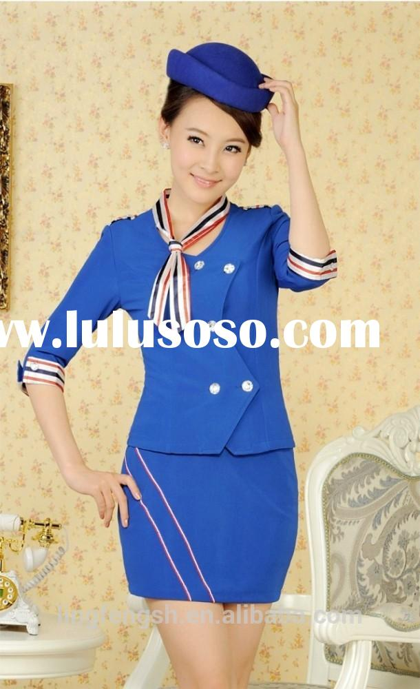 Women sample formal office uniforms design for ladies Plus size short skirt suits for women OEM