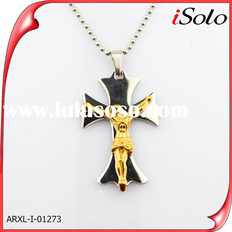 alibaba china supplier stainless steel jewelry jesus pendants for men