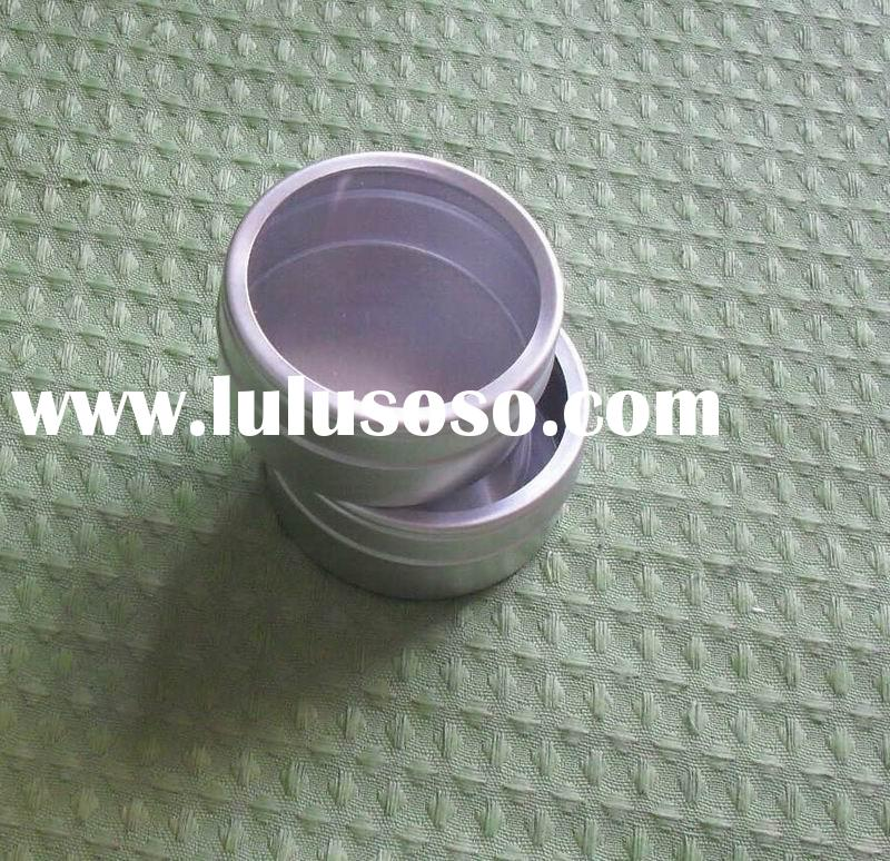aluminium round can tin with clear pvc lid