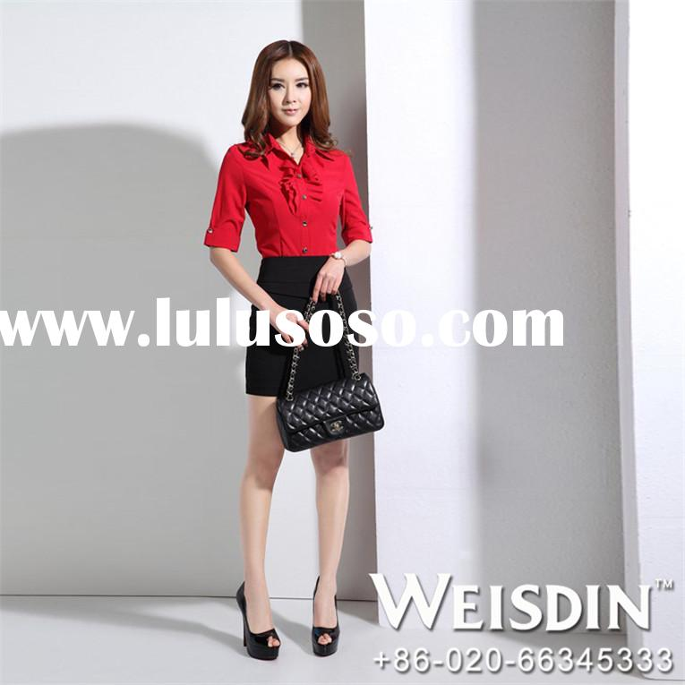 cirduroy china wholesale sample office uniforms for women