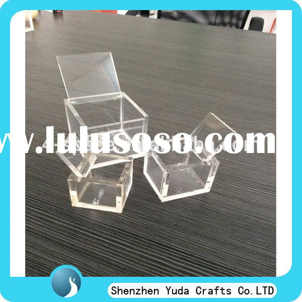 clear small acrylic box custom small acrylic boxes with cover plexi box wholesale
