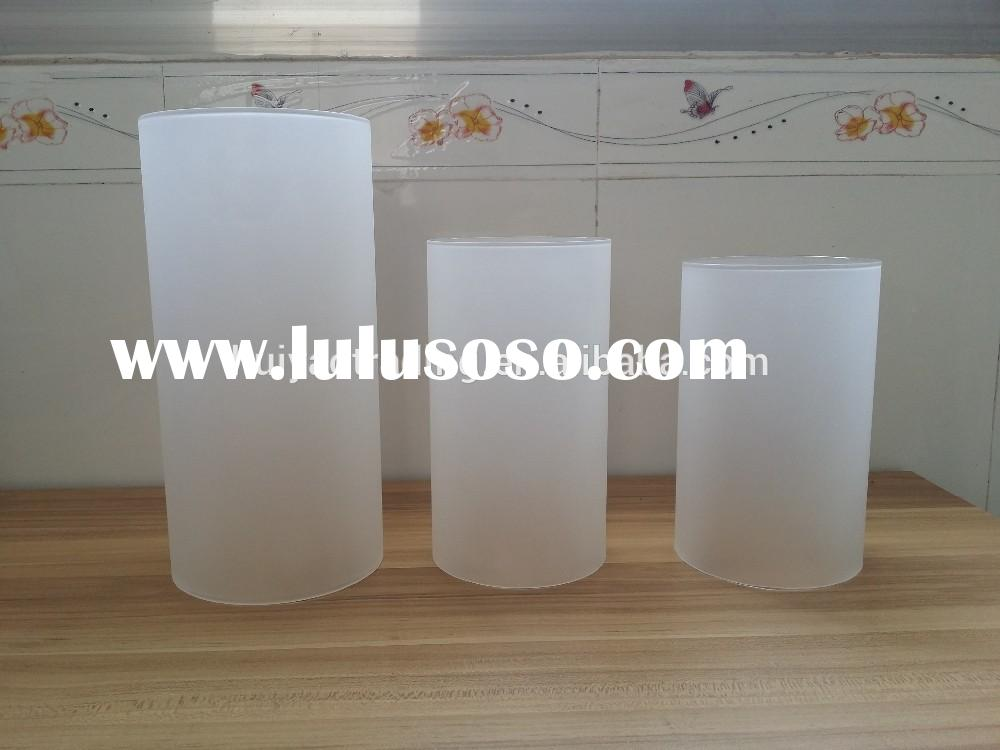 frosted and transparent hand made glass tube for lamp shade