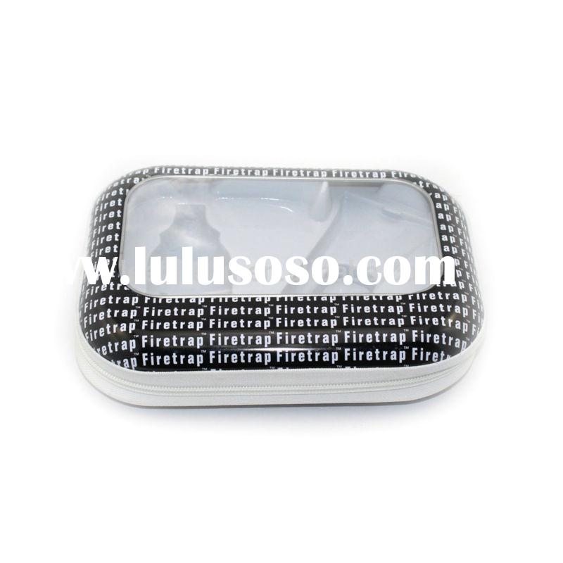 high quality beautiful rectangular perfume tin with clear top lid