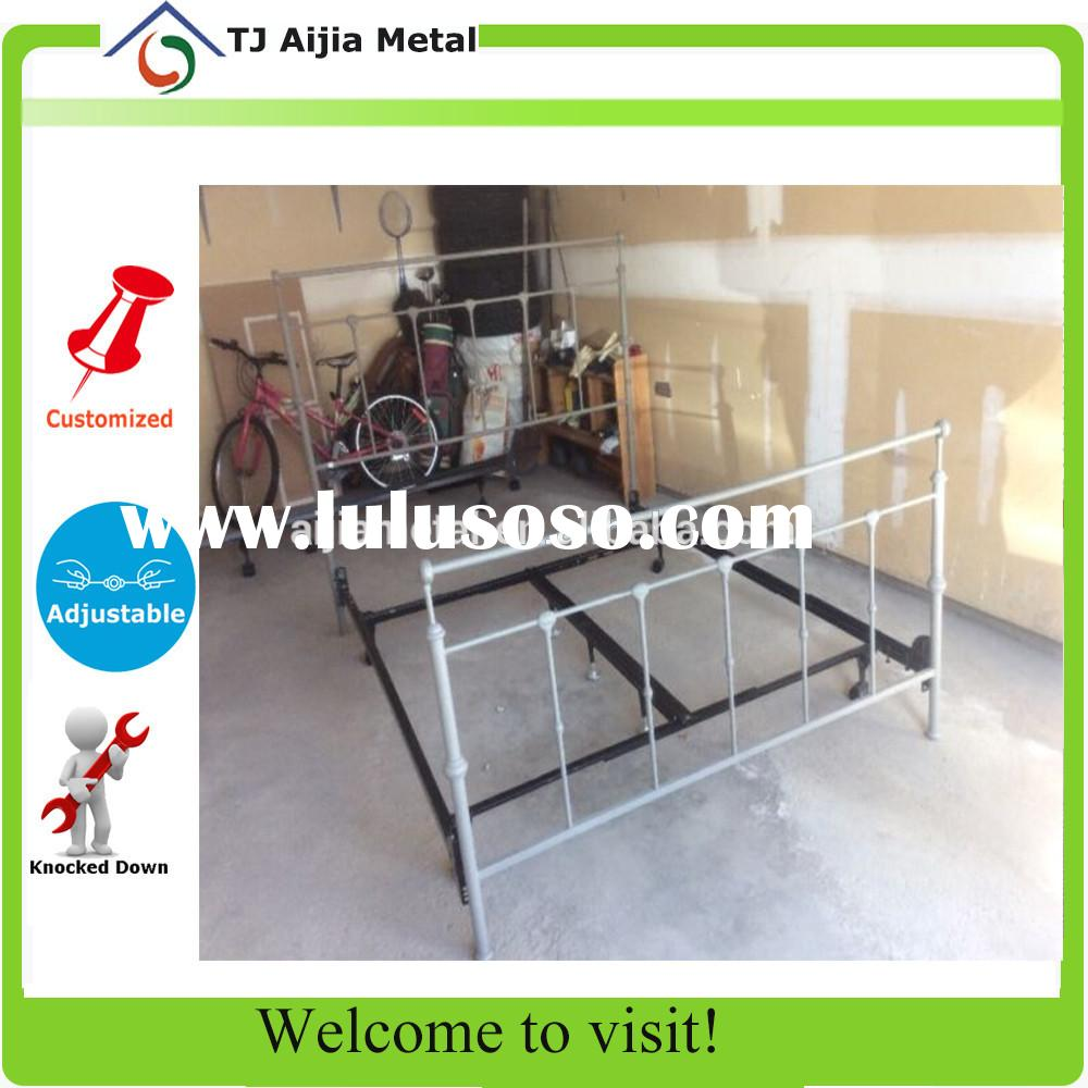 iron adjustable bed frame with headboard and footboard bracket