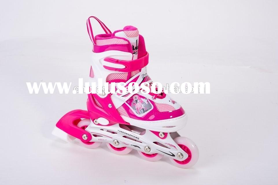 kids roller skate shoes/4 wheel retractable roller skate shoes/roller shoes with retractable wheels