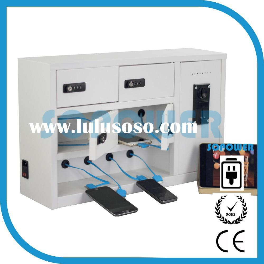 public cell phone charging station hot-selling 10 doors coin operated cell phone charging station