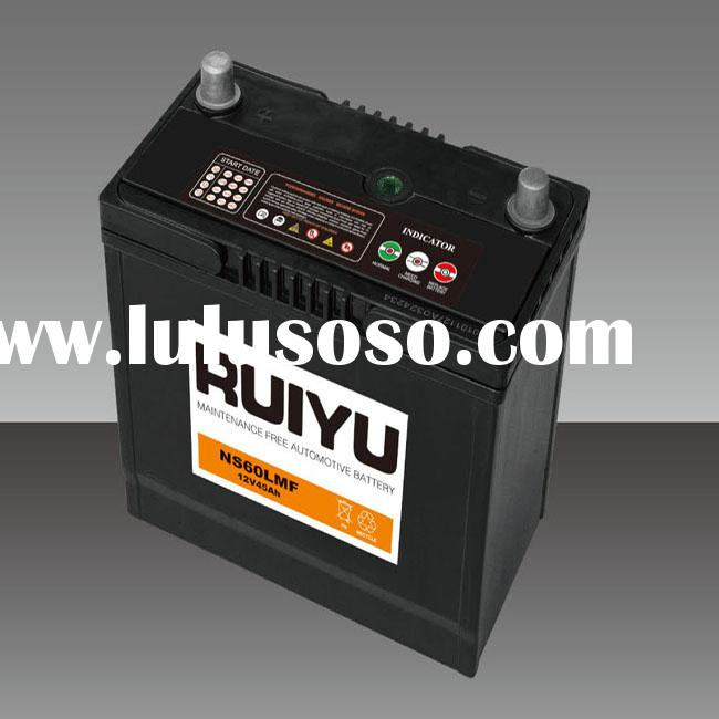 rechargeable JIS standard 12V 45AH battery for electric car,toy car battery