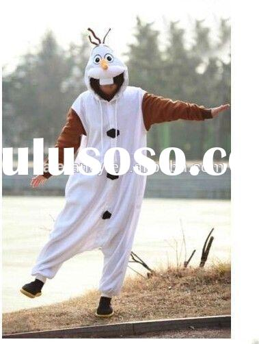 snowman olaf mascot costume for adult Kids Onesie Pajamas Anime Cosplay Costume WAO-2070
