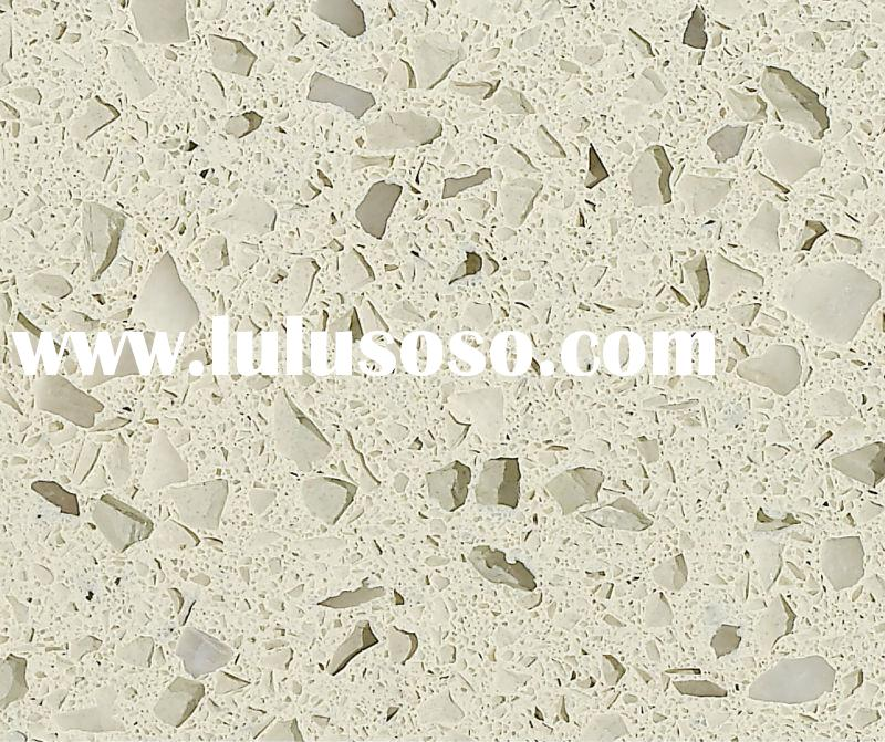 white crystal artificial Quartz slab solid surface countertops with Large variety of sinks