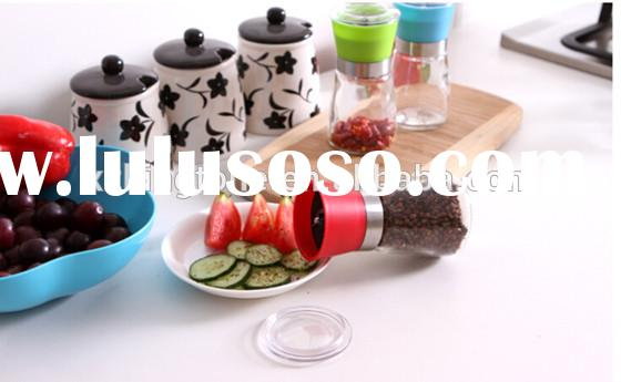 wholesale 150ml hand-operated salt and pepper grinder,glass manual spice grinders,ceramic food mills