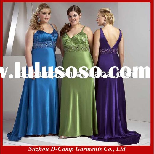 BD-223 Wide srtaps empire bodice sleek satin fat bridesmaid dress super plus size bridesmaid dresses