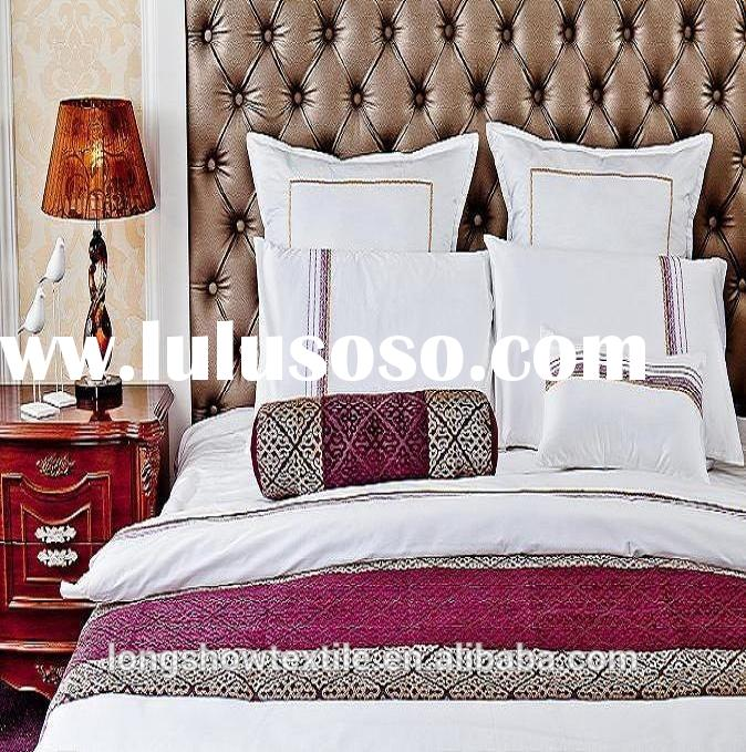 Professional Factory Sale Plain Jacquard luxury 100% combed cotton for hotel bed sheets